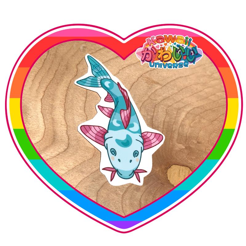 Kawaii Universe - Cute Teal Koi Sticker
