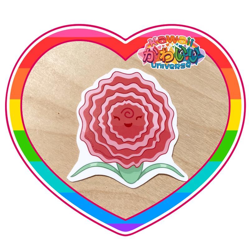 Kawaii Universe - Cute Carnation Flower Sticker