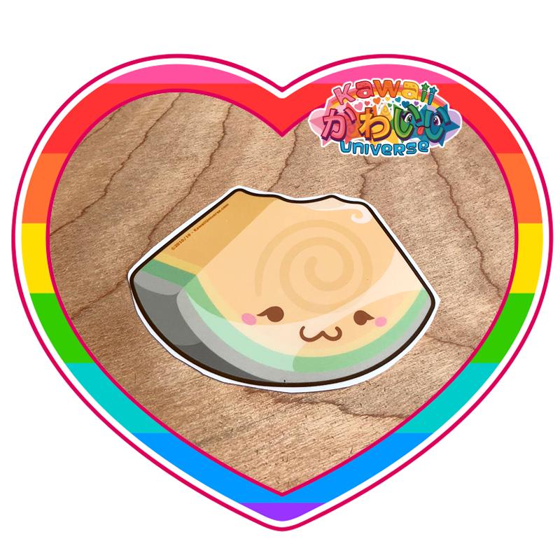 Kawaii Universe - Cute Cantaloupe Wedge Sticker
