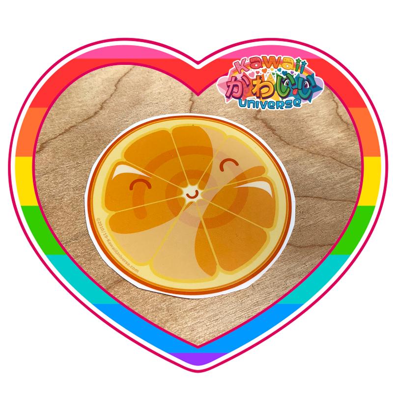 Kawaii Universe - Cute Orange Slice Sticker