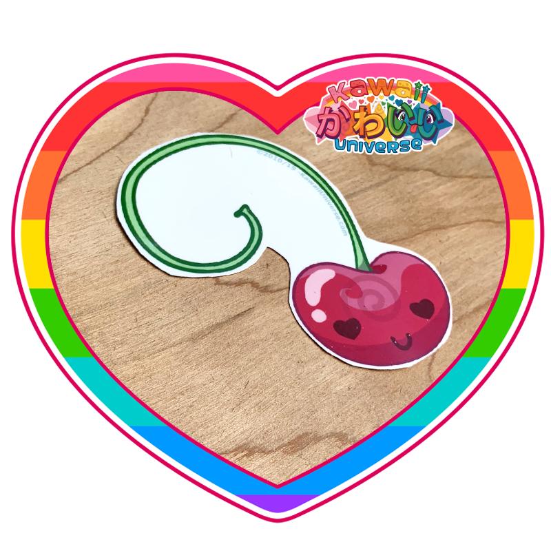 Kawaii Universe - Cute Single Cherry Sticker
