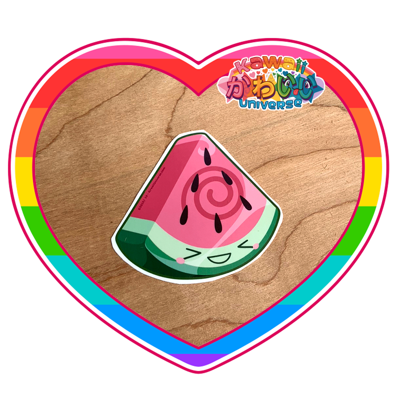 Kawaii Universe - Cute Watermelon Wedge Sticker