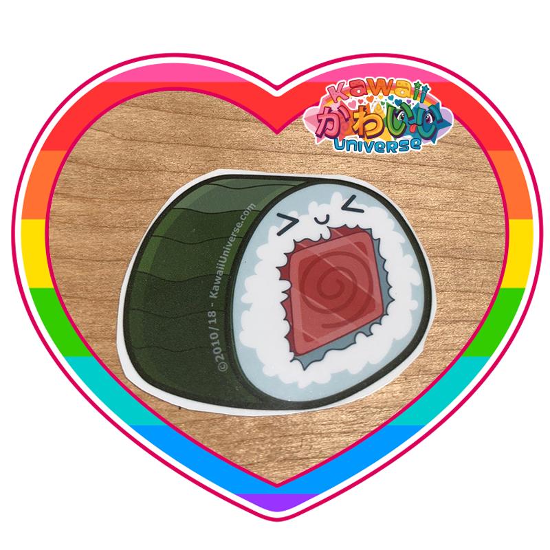 Kawaii Universe - Cute Sushi Spicy Tuna Roll Piece Sticker