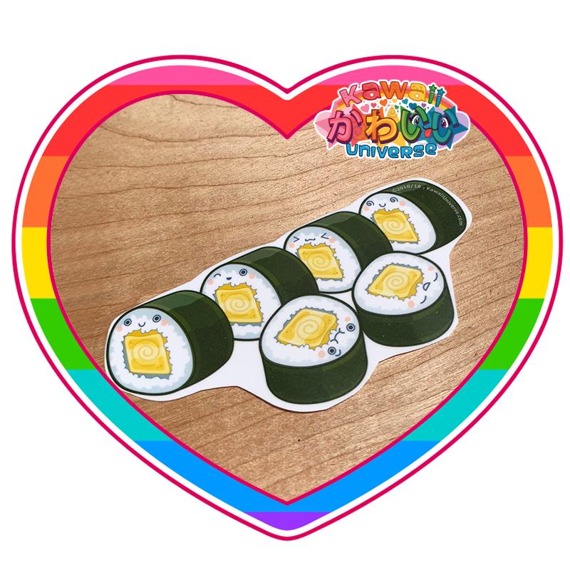 Kawaii Universe - Cute Tomago Roll Sushi Sticker