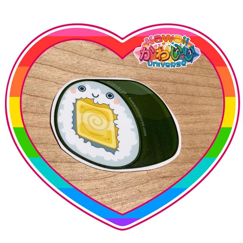 Kawaii Universe - Cute Tomago Roll Sushi Piece Sticker