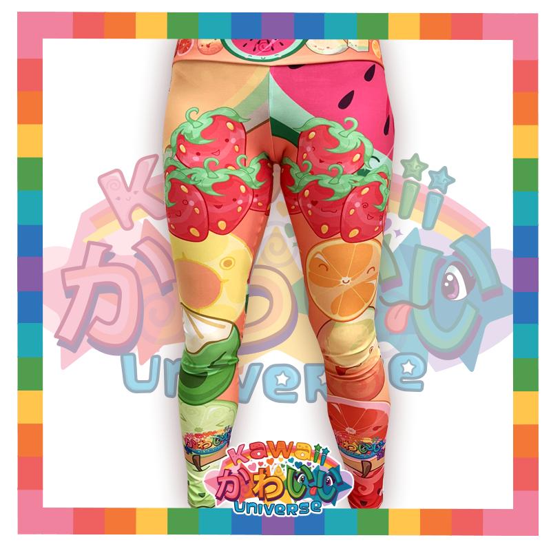 Kawaii Universe - Cute Fruit Designer Leggings
