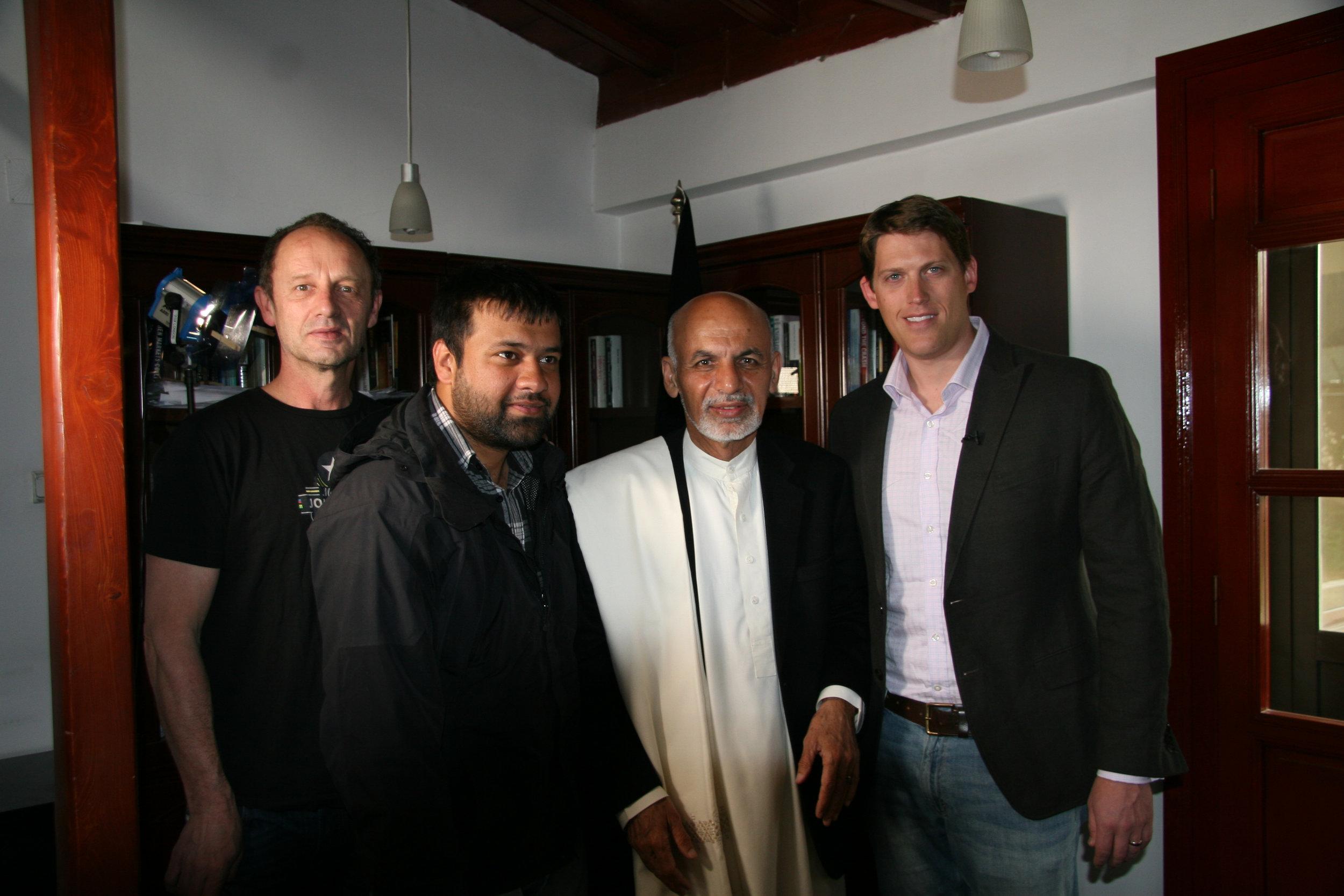 Afghan President Ashraf Ghani interview