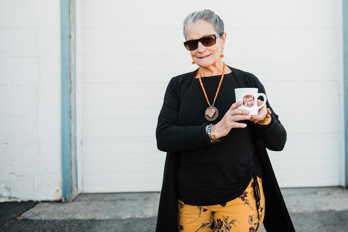THIS IS shirley. - Artist. Grandmother. Epic storyteller. Okotoks Hall of Famer. Volunteer. Best Dirty Joke Teller. Designs her own Tattoos. Can still do the splits. Wise wild woman.Rebel.