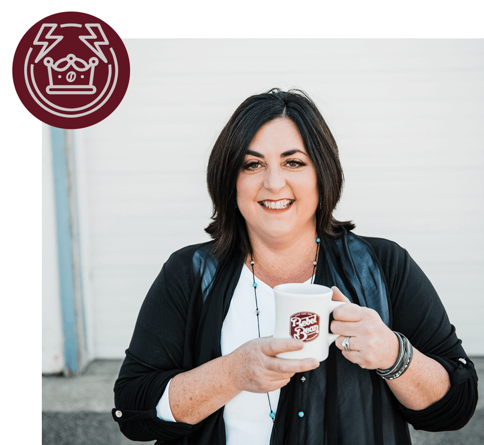 "the original rebel - Hey, I'm Kerri Ann and I'm the Founder of Rebel Bean Coffee. This is the spot where I'm supposed to tell you of my undying love for coffee, it's aroma, it's subtle undertones and bold flavours and why you should drink our coffee.But, my coffee truth is a bit different.My coffee business didn't start with a deep and passionate love for craft coffee. I mean, I loved coffee, don't get me wrong. But it was a two cups a day, can't start my day without it kinda love (probably just like you) but not in an ""i'm going to create a coffee empire"" kinda way.I started as a single m0m, with two small humans and a fire in my heart to take care of us all by myself. And it was elevated by a belief in humanity and the universe. 'Cause I'm a bit hippy like that.Here we are years later, and Rebel Bean has enjoyed growth and success just like I have personally. The coffee itself is, of course, very important and I'm grateful that we have found a following of customers that love it for exactly what it is —- great coffee. But it's still not as important to me as the people who drink it, the relationships they build over coffee, the way coffee impacts so many areas in the fabric of life, and the communities that both support it and benefit from it.THAT APPARENTLY MAKES ME A REBEL."