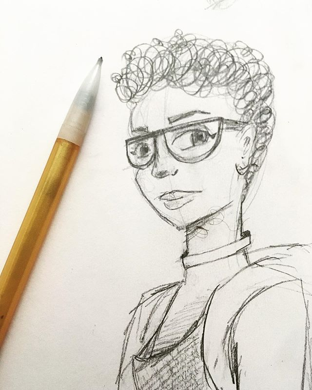 Back to sketching! #pencildrawing #stlartist #comicbookartist
