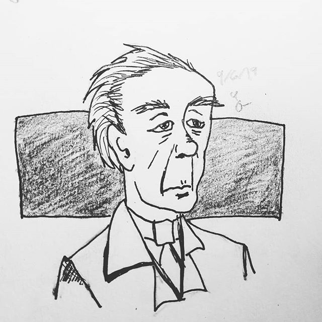 It's a simple inking, but I'm enjoying challenging myself to draw more expressive characterized faces! #inking #stlartist #illustration #portraitdrawing