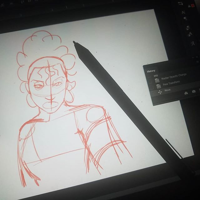 A friend let me test out a drawing pen...for a laptop I've had for 2 years. I'm thinking about finally buying it! #sketch #digitalart #bambooink
