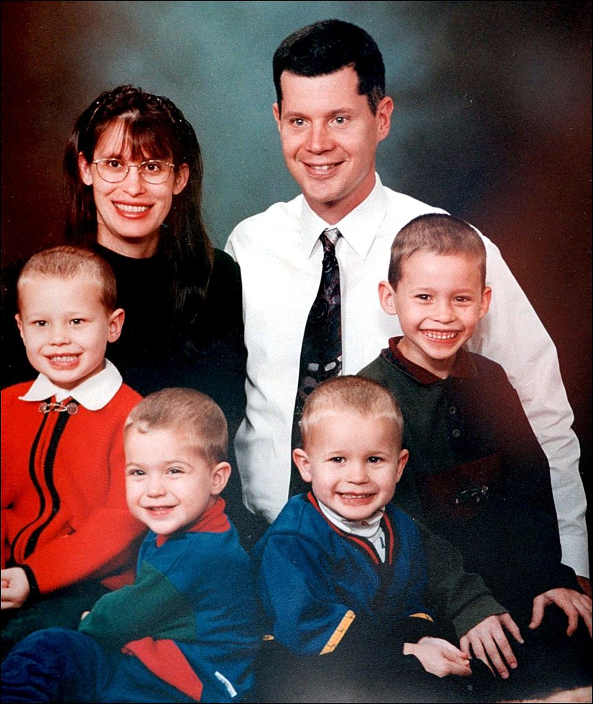 Andrea, Rusty and the family Yates, baby Mary not pictured