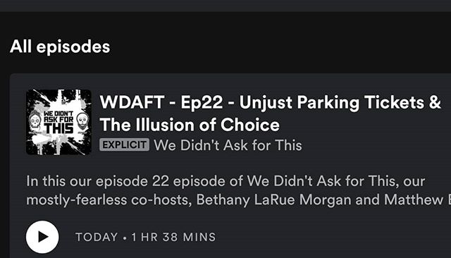 O HEY GUYS, NEW EPISODE. CHECK IT OUT. @the_madmatter EDITED THIS ONE TO GIVE @bethalarue A BREAK. WHAT. A. STUD. 😍 . . . . #Podcast #WereSoCool #WakeMeUpWhenSeptemberEnds #WeDidntAskForThis #LifeAdventures #LiveYourBestLife #BeKindToOthers #BeKindToYourself #MakeTheAsk #AskForWhatYouWant #SafetyFirst #Meme #Memecast #wdaftPodcast #Podcast #NewEpisode #Adulting #ParkingTicket #Childhood #ChildDevelopment #GrowingUpMormon #WhyILeftTheMormonChurch #Illusion #Choice #RealTalk