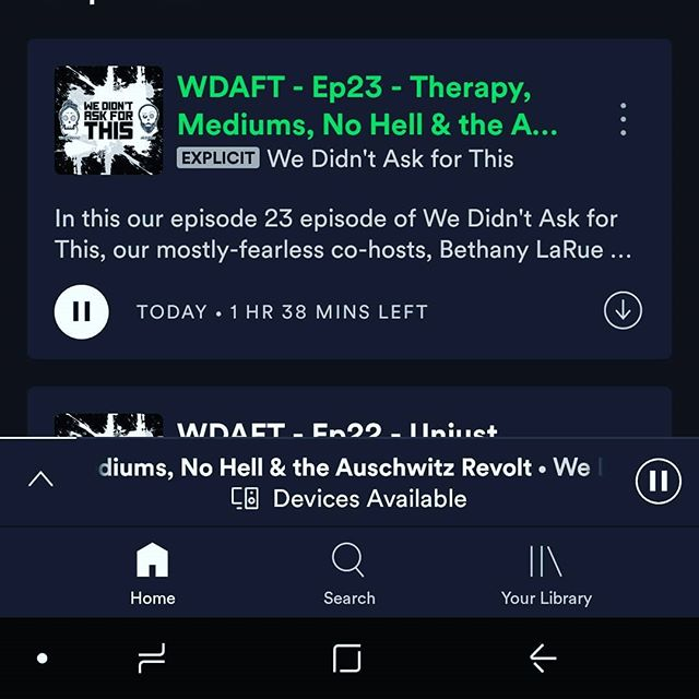 NEW EPISODE! PUT IT IN YOUR EAR HOLES! Also this is some real shit today, so heed that trigger warning. Love y'all! 💛 . . . . #wdaftPodcast #Podcast #WereSoCool #WakeMeUpWhenSeptemberEnds #WeDidntAskForThis #LifeAdventures #LiveYourBestLife #BeKindToOthers #BeKindToYourself #MakeTheAsk #AskForWhatYouWant #SafetyFirst #Meme #Memecast #Auschwitz #AuschwitzRevolt #Heroes #HevanAndHell #Mediums #Ghosts #Mortality #Religon #Philosophy #NewEpisode #Holocaust #Heaven #Hell