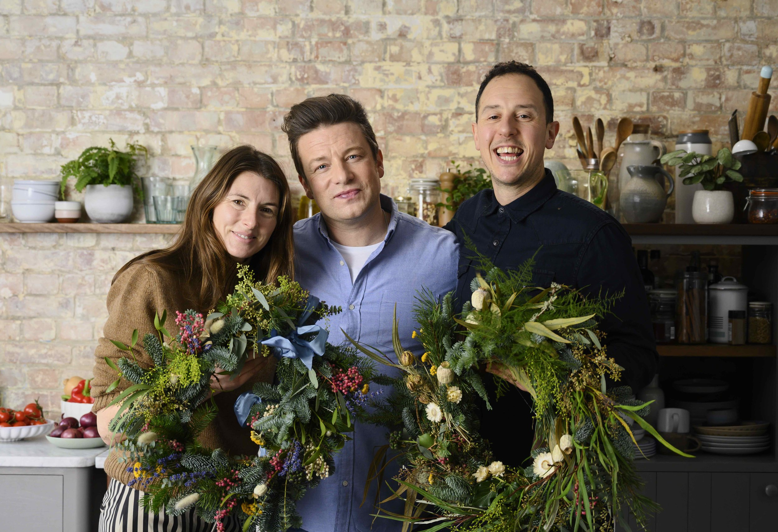 Christmas Wreath Workshop with Jools and Jamie Oliver