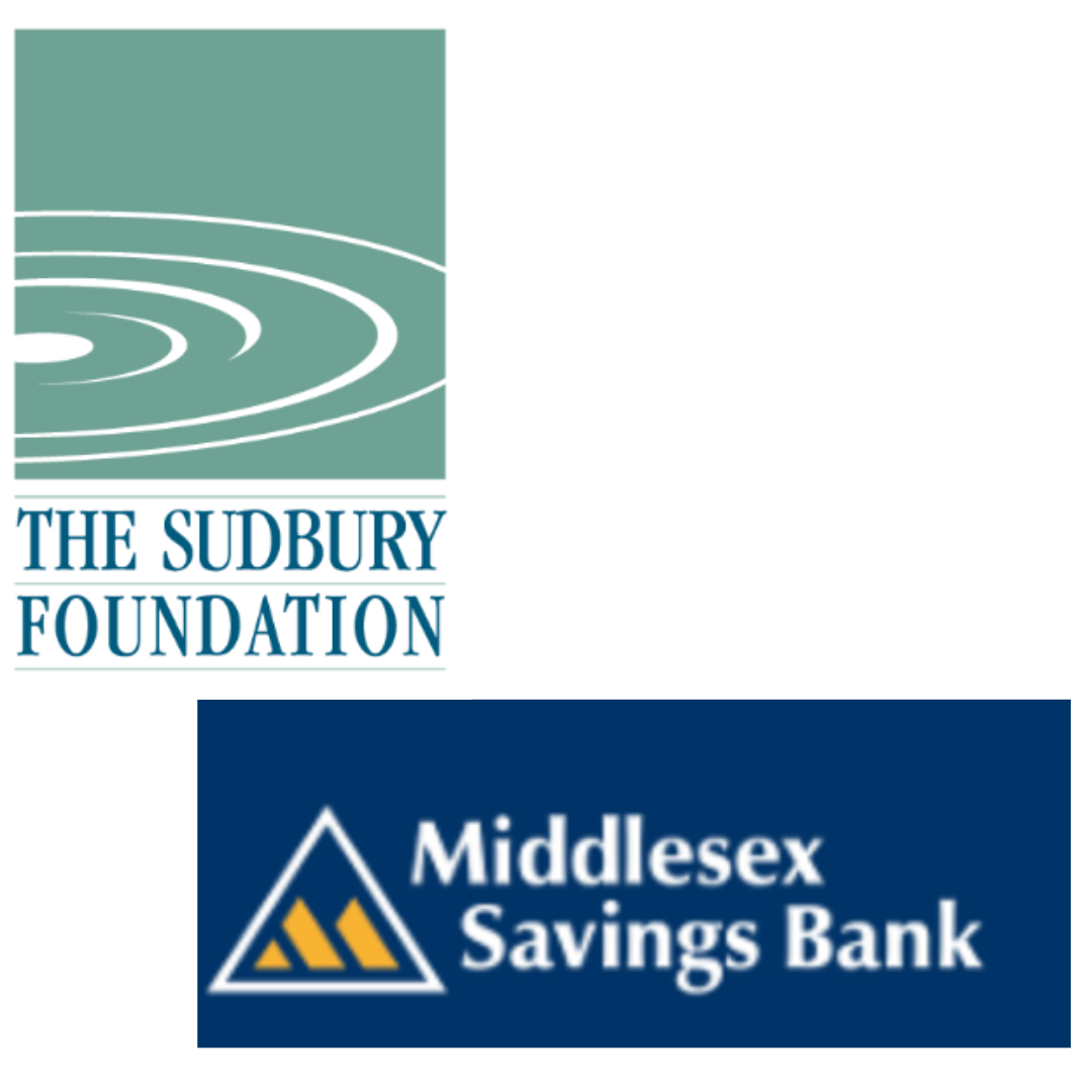 Our funding partners - We are so grateful to generous partnerships from The Sudbury Foundation and Middlesex Charitable Savings Bank Foundation.