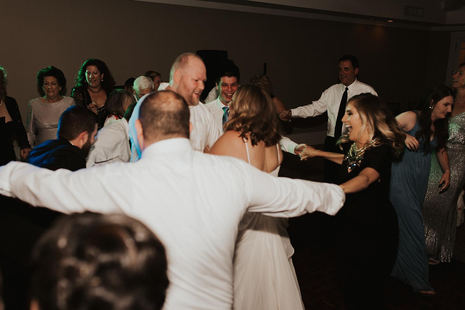 wedding hora dancing