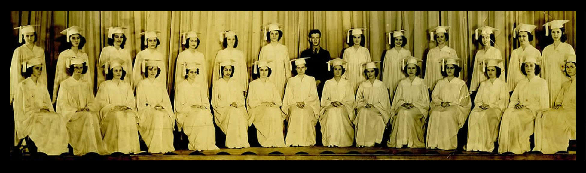 St. Mary of the Pines, Chatawa, MS - class of 1941 (note the one male graduate)