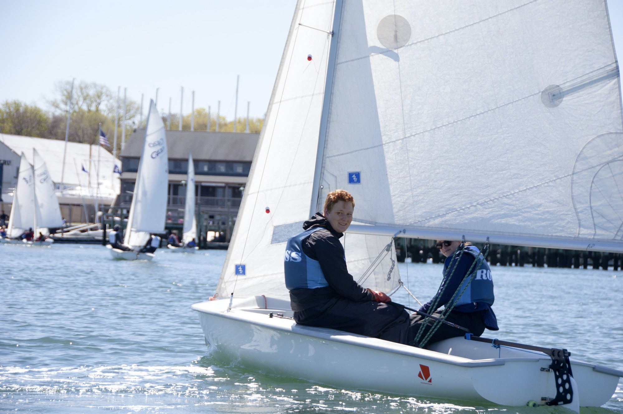 Sailing Club Participants Sailing on one the Beautiful Bays and Inlets of the Hamptons as Part of the Ross