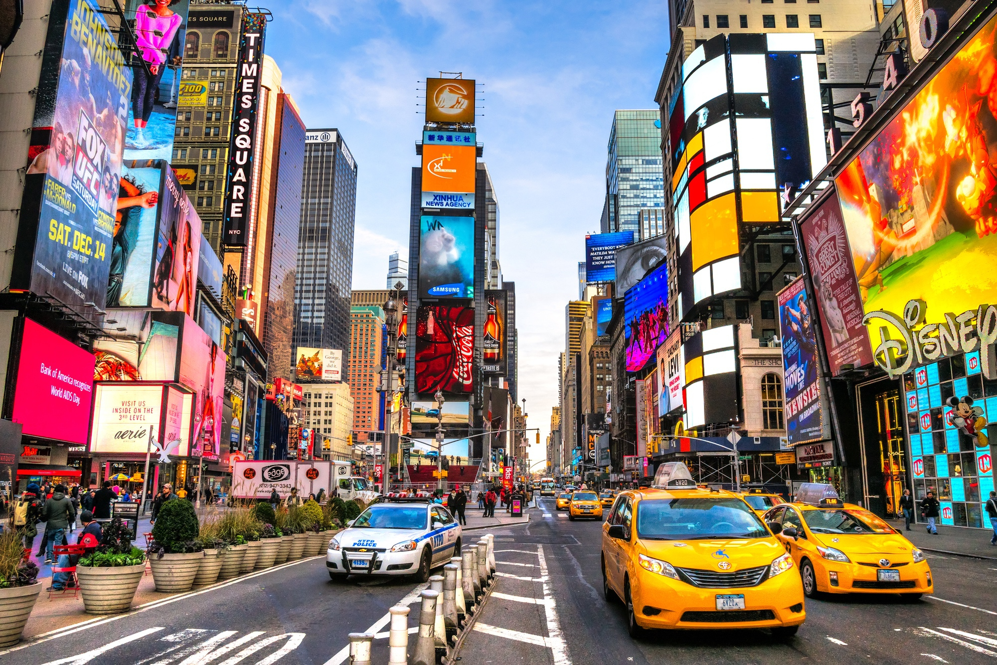 Manhattan's Times Square Which is Only a Couple Hours from Ross School By Bus, Rail or Car