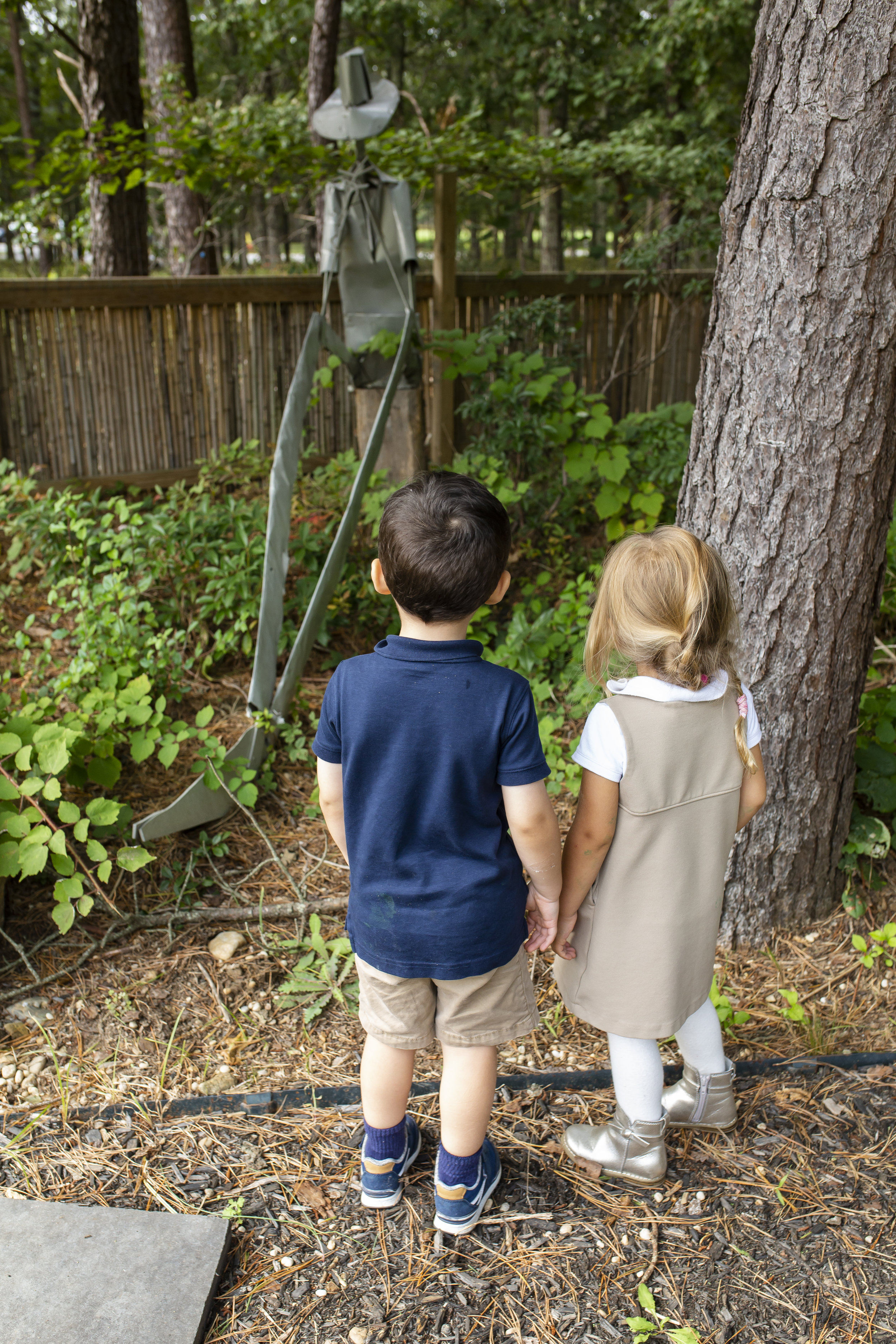 Ross Early Childhood Students Spending Time Outdoors in the Ross Spiral Garden