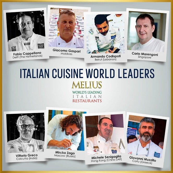 WHAT REALLY MATTERS FOR AN ITALIAN LEADING RESTAURANT - Authenticity, for sure, but integrity as well. True Leaders of Italian Cuisine in the World, like the ones in the picture, are above all honest and competent professionals, committed to both their customers and the genuine Italian culinary culture.⠀Their restaurants are already members of Melius - World's Italian Leading Restaurants or have been pre-selected to be part of it.