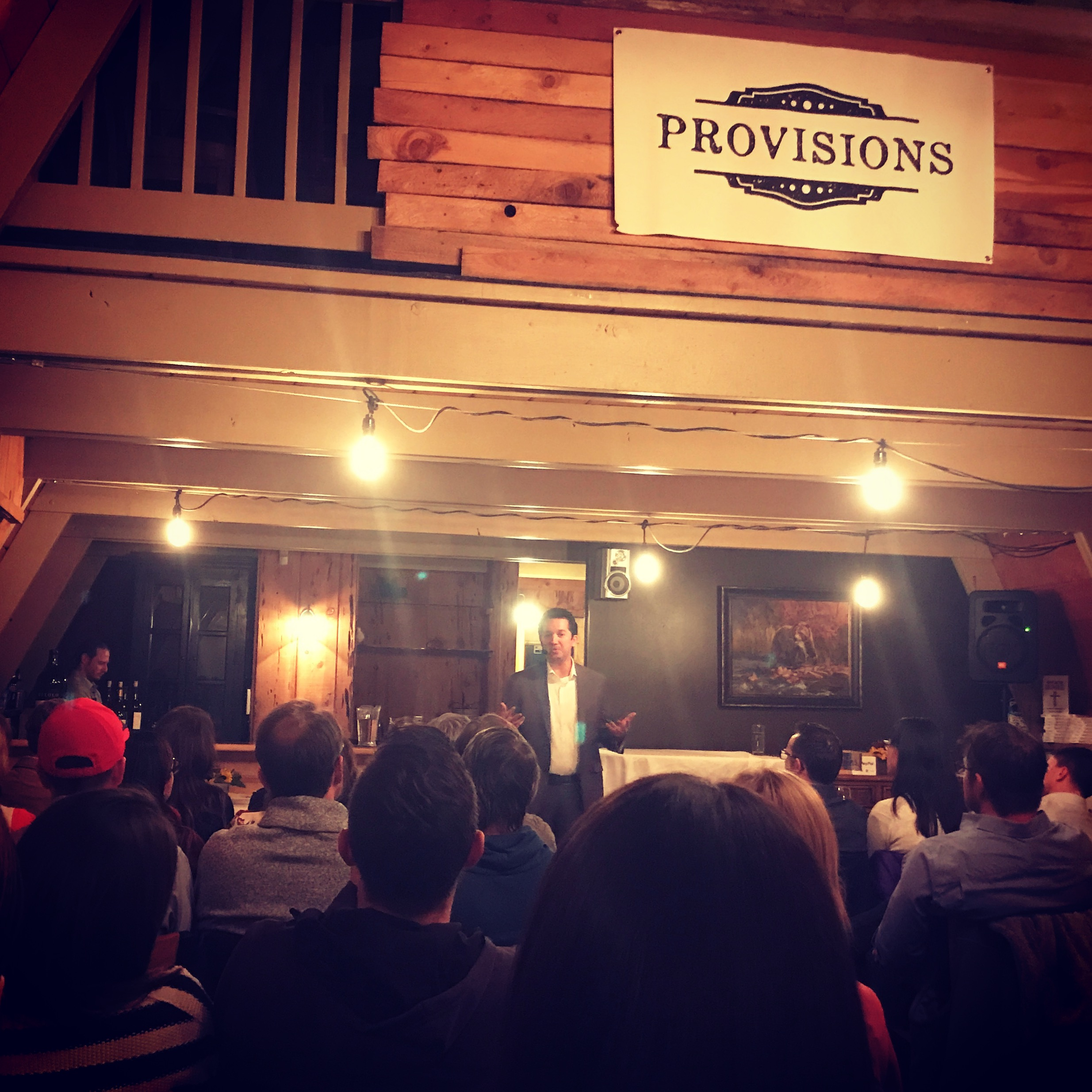 Theology uncorked - Trent HornNovember, 2018The Cabin at Provisions Restaurant