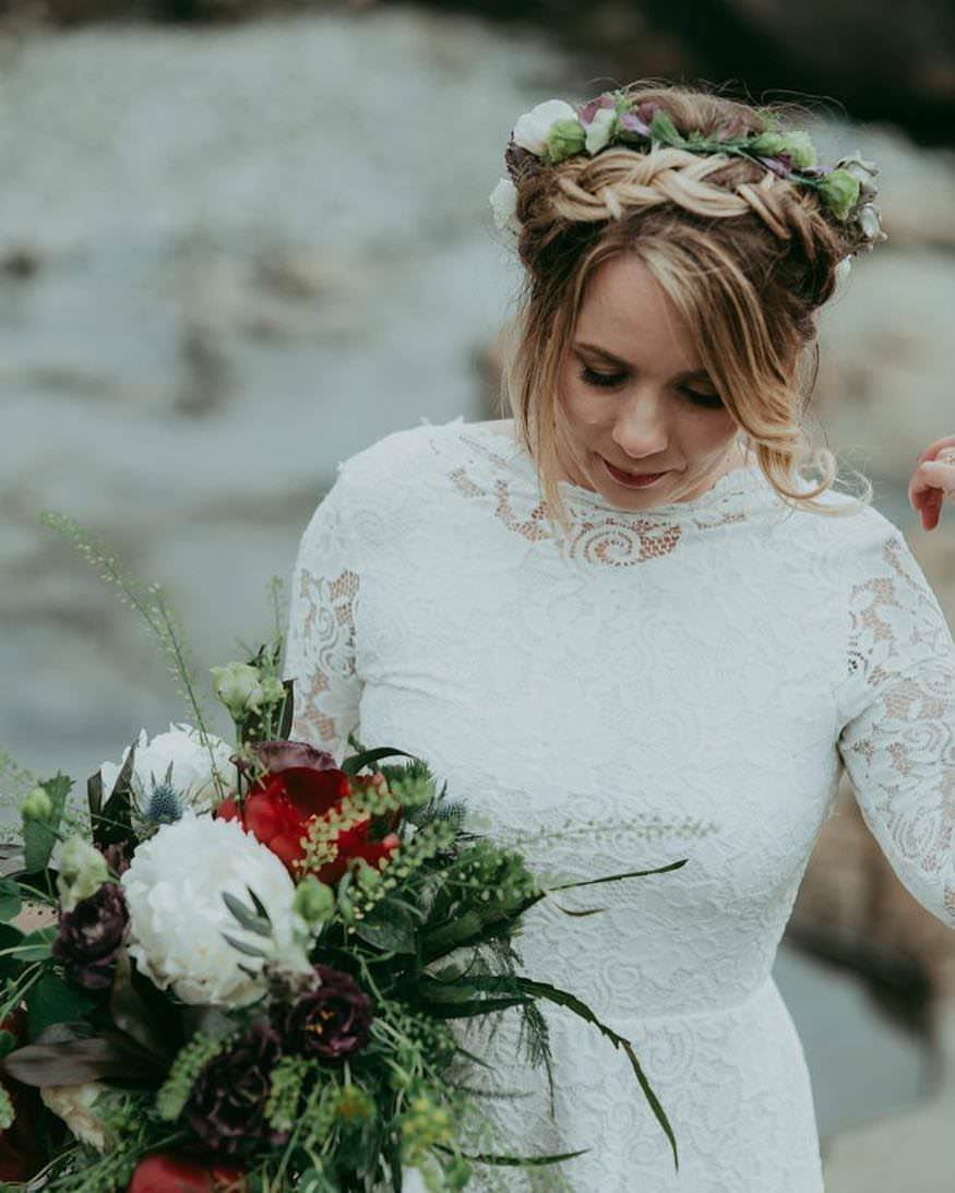 Skye Elopement bride