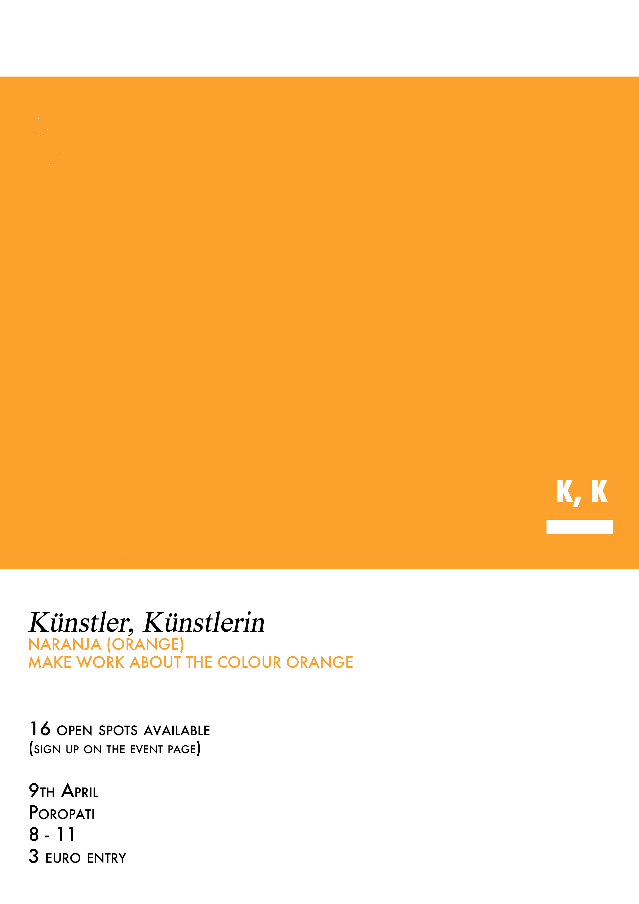 Künstler, Künstlerin, Naranja (Orange) make work about the colour Orange.jpg