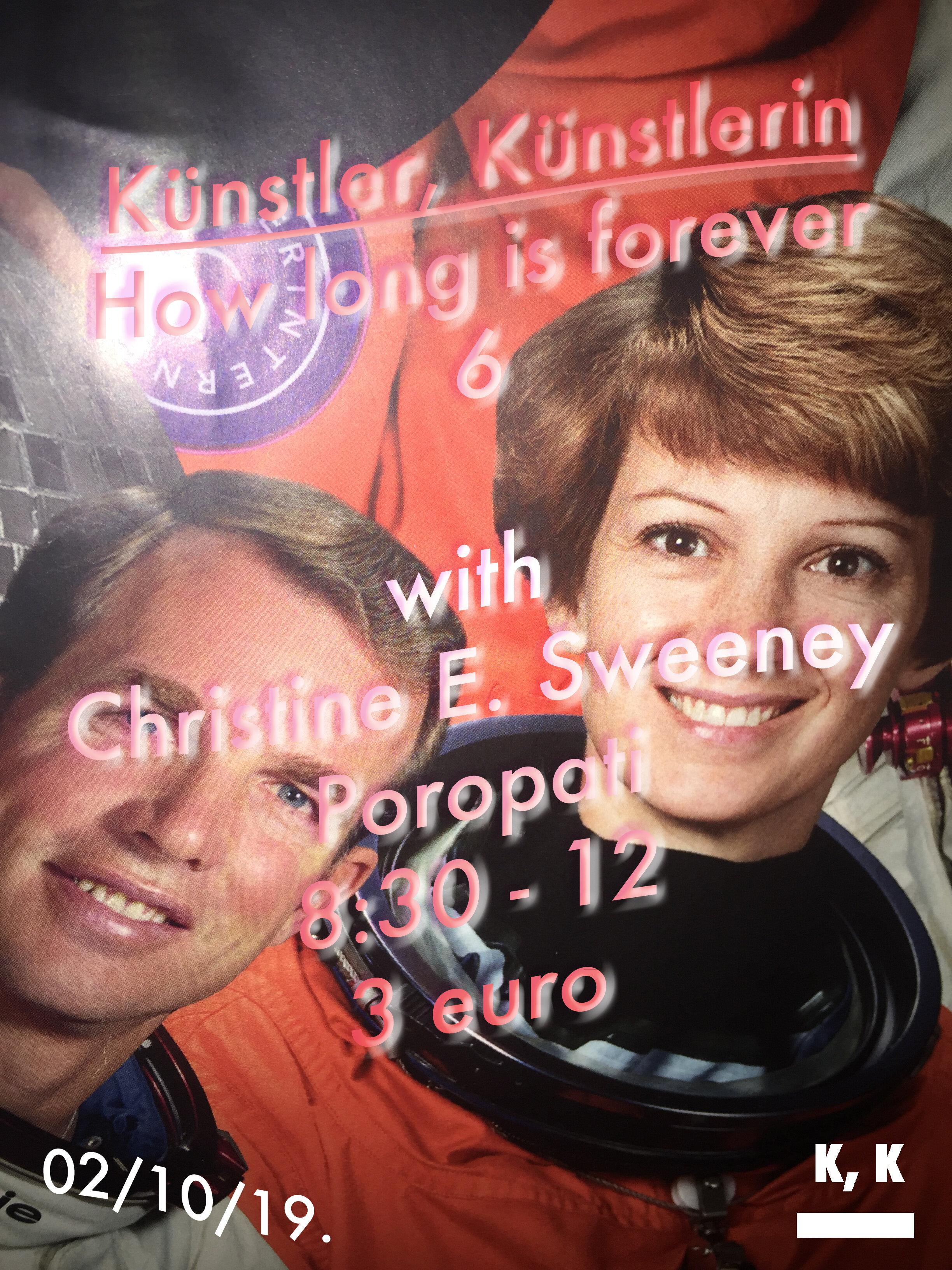 Kunstler, Kunstlerin, How long is forever 6 with Christine E. Sweeney.jpg