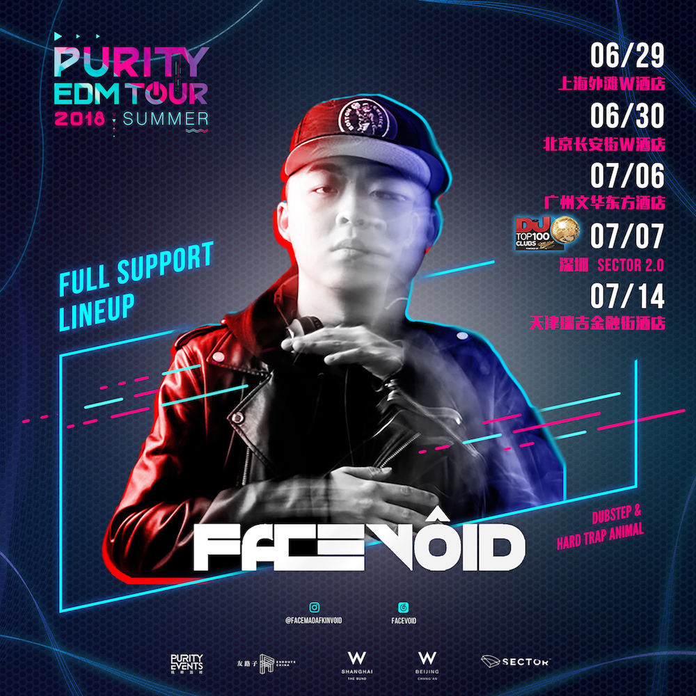 PURITY EDM TOUR 2018: Facevoid