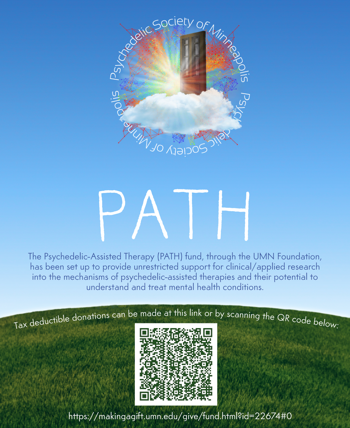 Want to support psychedelic research at University of Minnesota?? - Tax deductible donations can be made through the UMN Foundation!