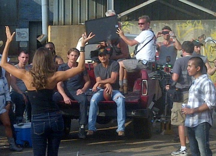 Shooting with Tim McGraw for his music video