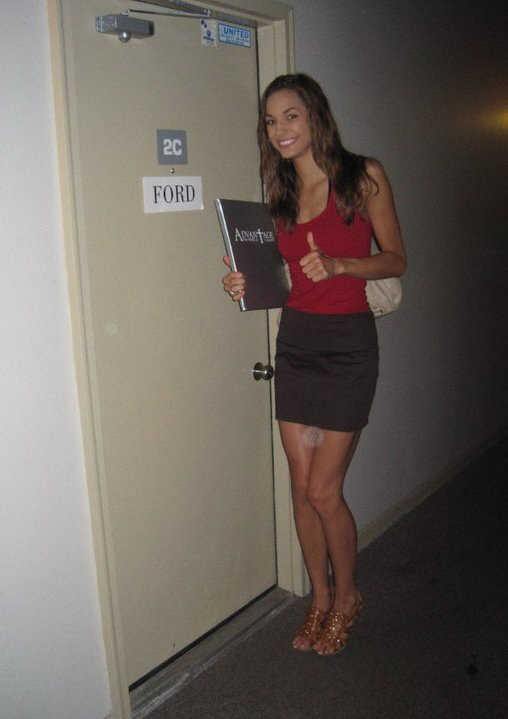 2010 - Going into meet the Agents at FORD who would make this tiny dream of mine a reality ( I almost didn't go to the call back because I thought there was NO way they'd sign me)
