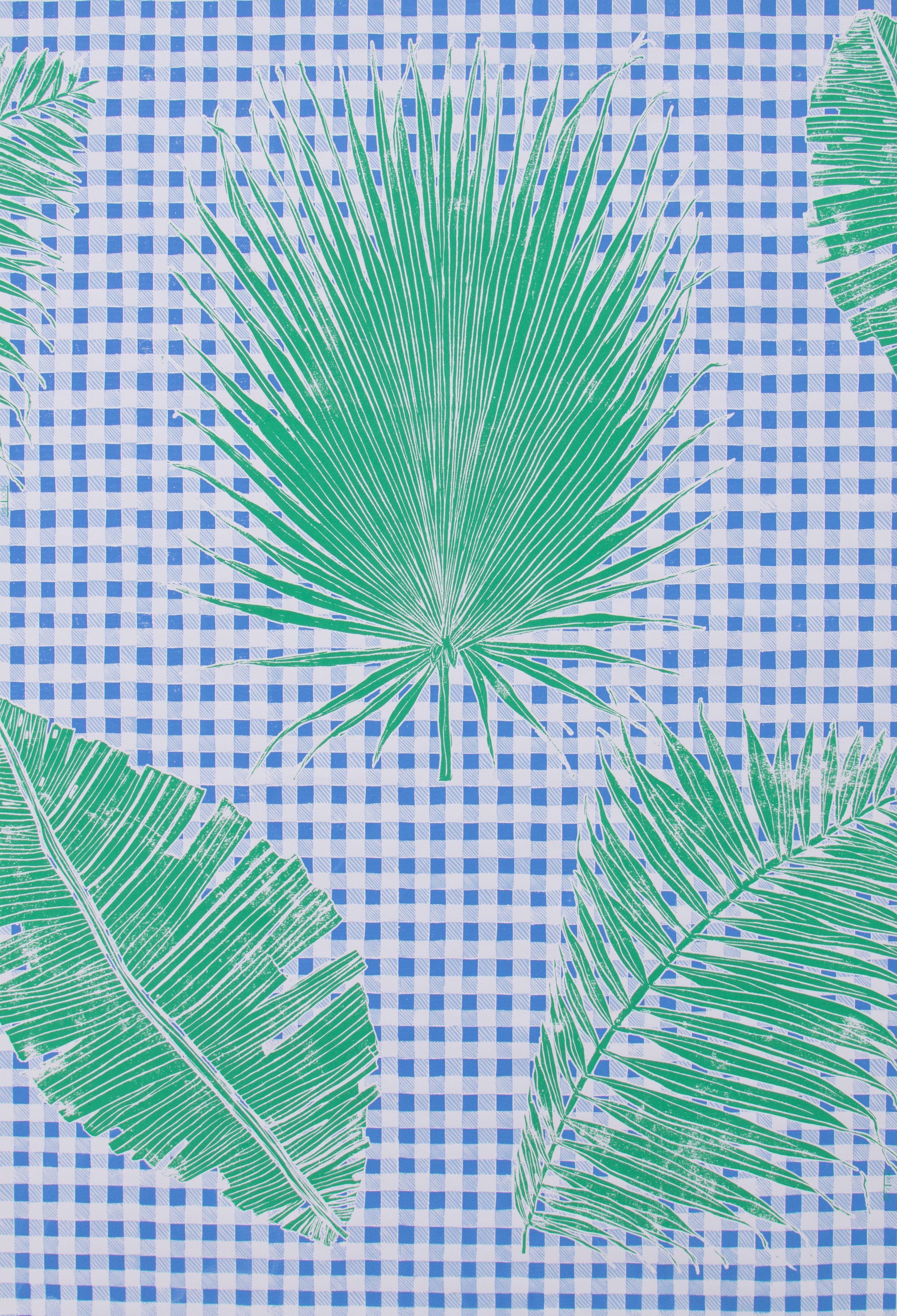 Gingham Jungle in Blue Chip Day, SL230-01