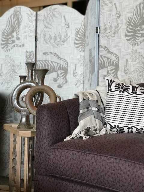 Tiger & Magpie Wallpaper in Dune, Interiors by Cloth & Kind