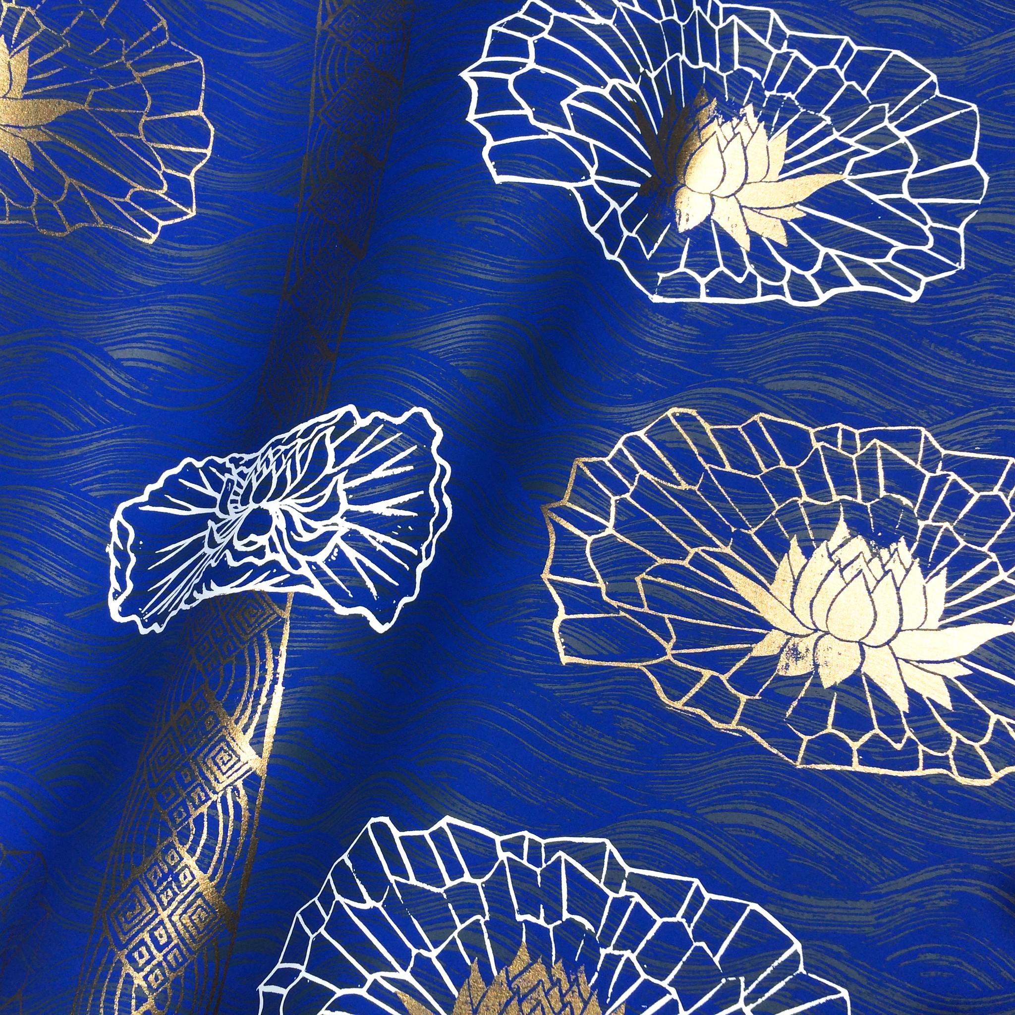 Lotus Stripe in Ultramarine, SL150-01