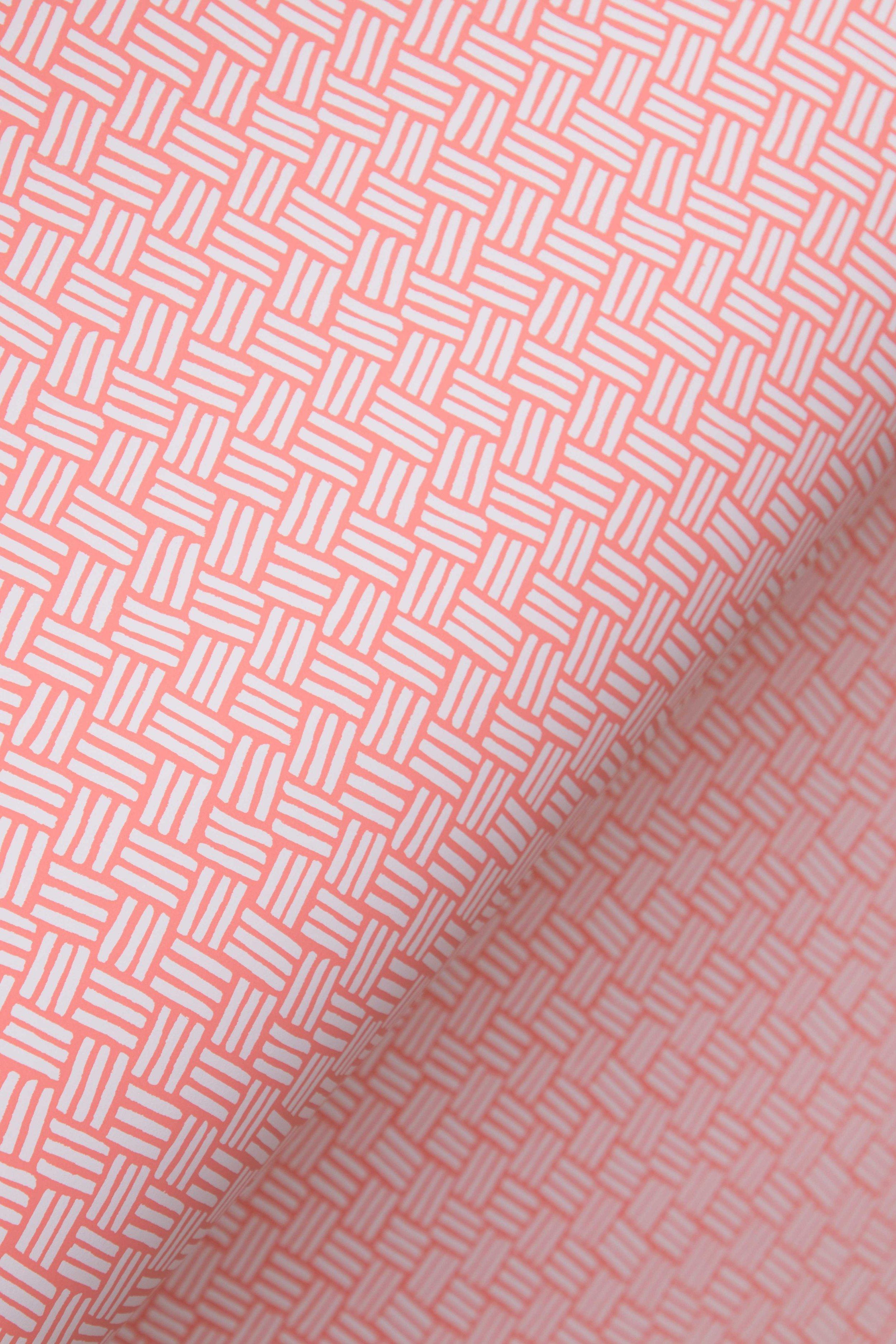 Basketweave Coral Pink, SL202-05