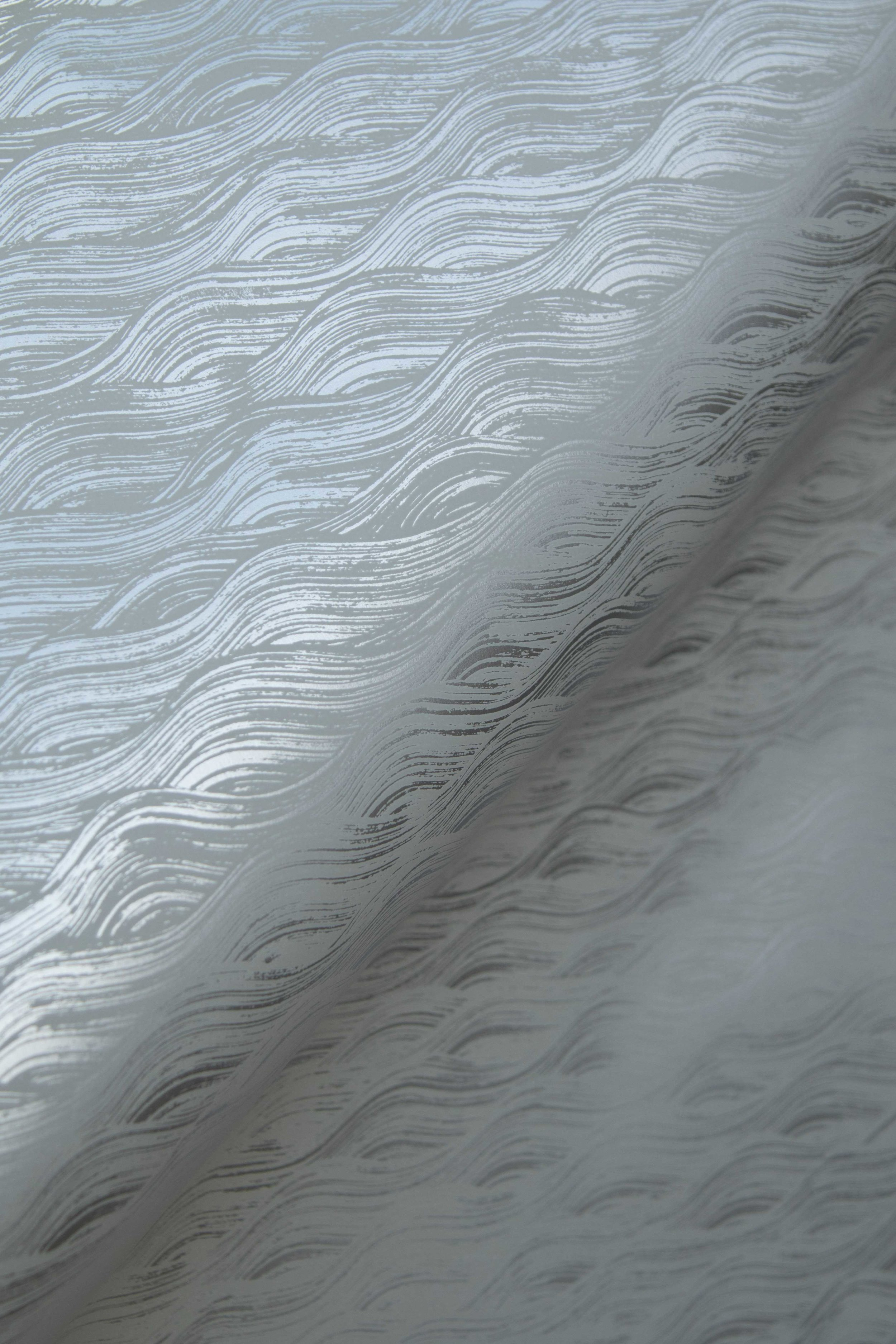 Painted Wave in Silver, SL160-05