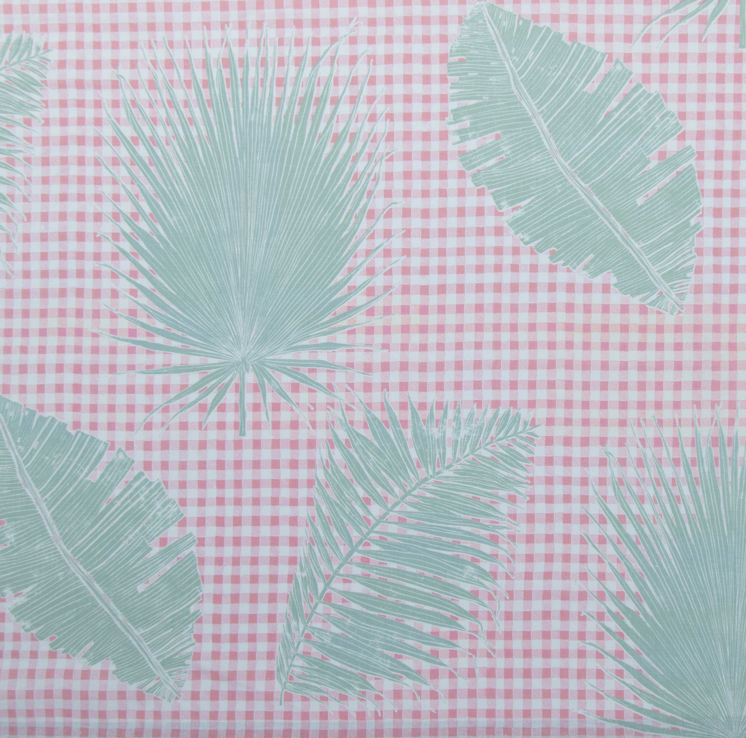 Gingham Jungle in Pink Sage, KF230-05