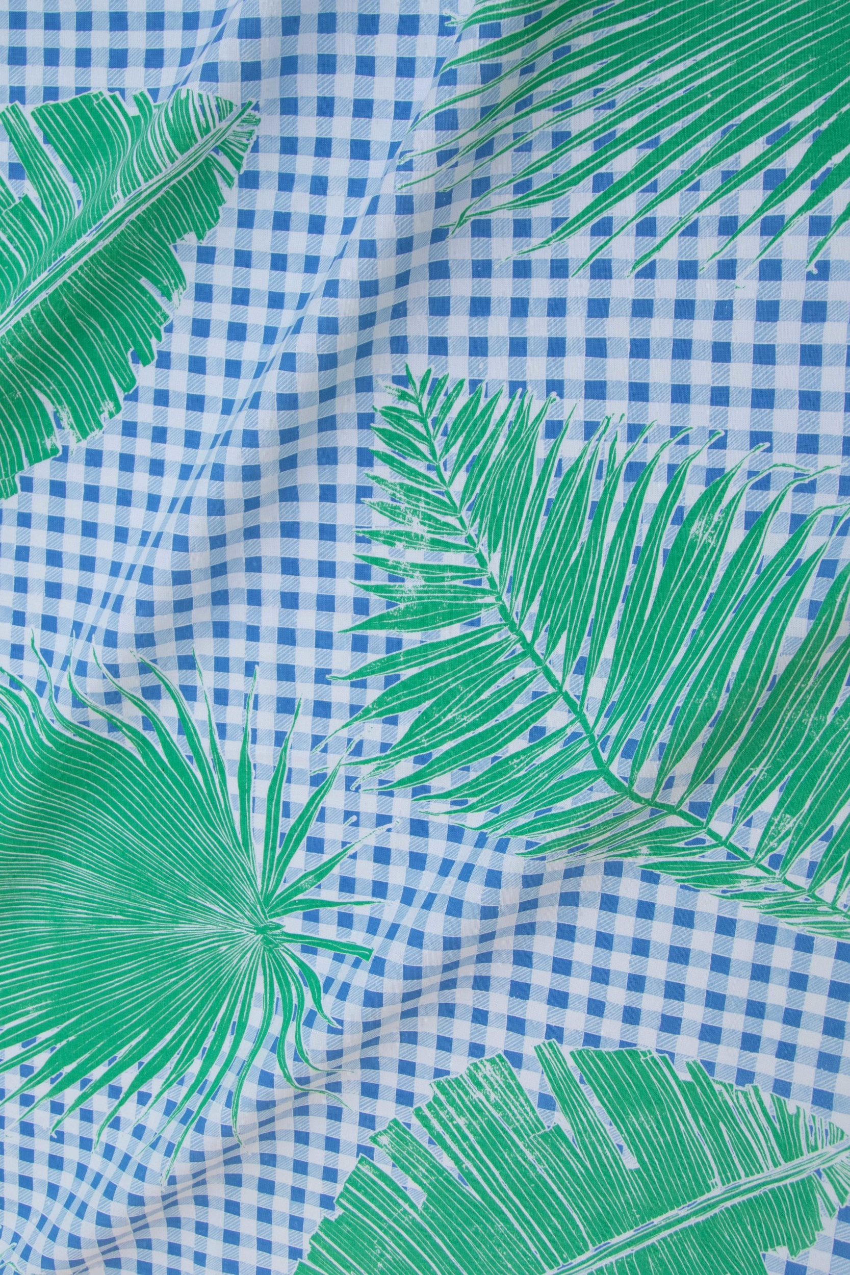 Gingham Jungle in Blue Chip Day, KF230-01