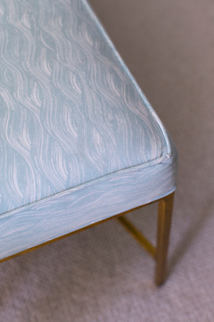 Painted Wave Fabric in Celadon, Photo by Karyn Millet