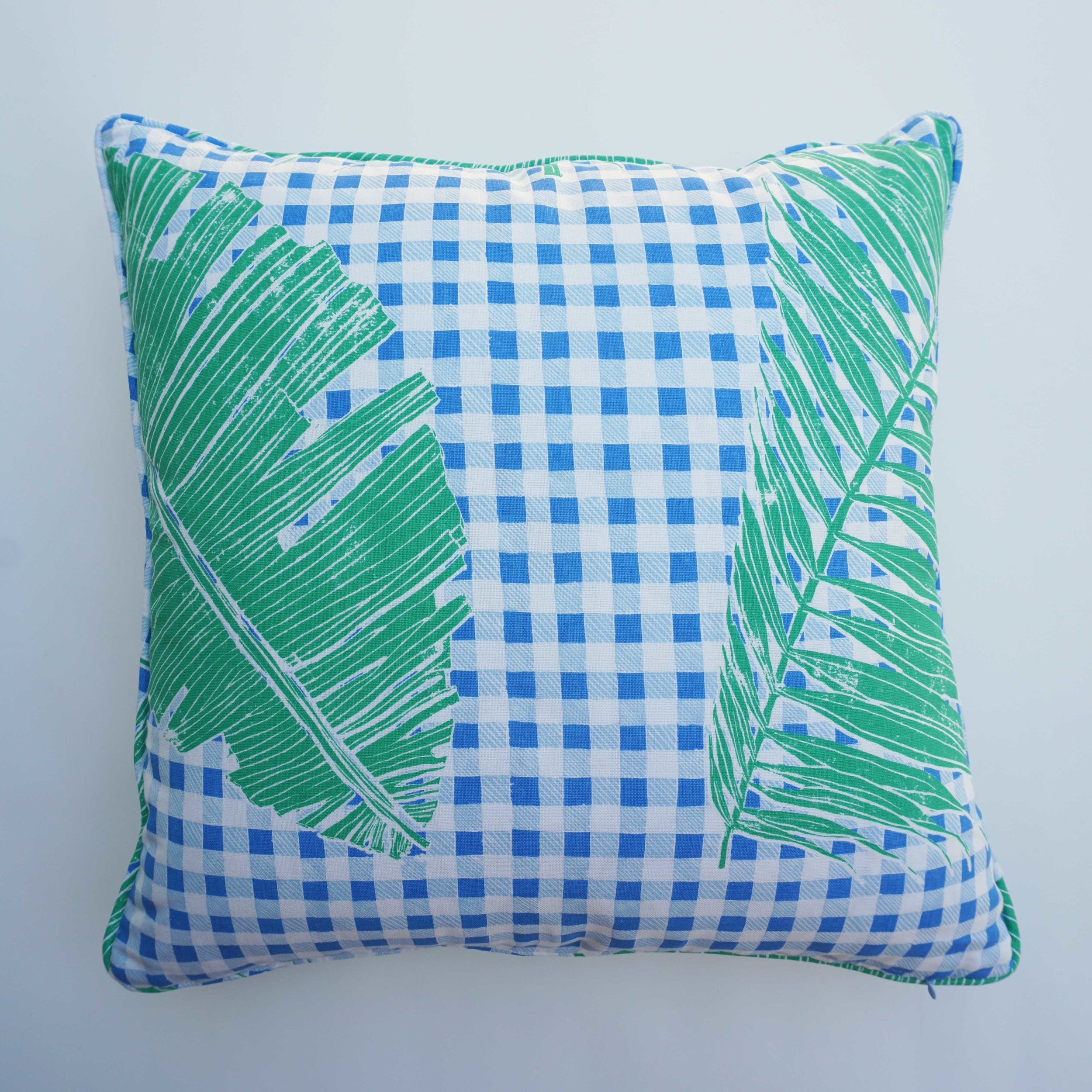 Gingham Jungle in Blue Chip Day (reverse), SL230-01P