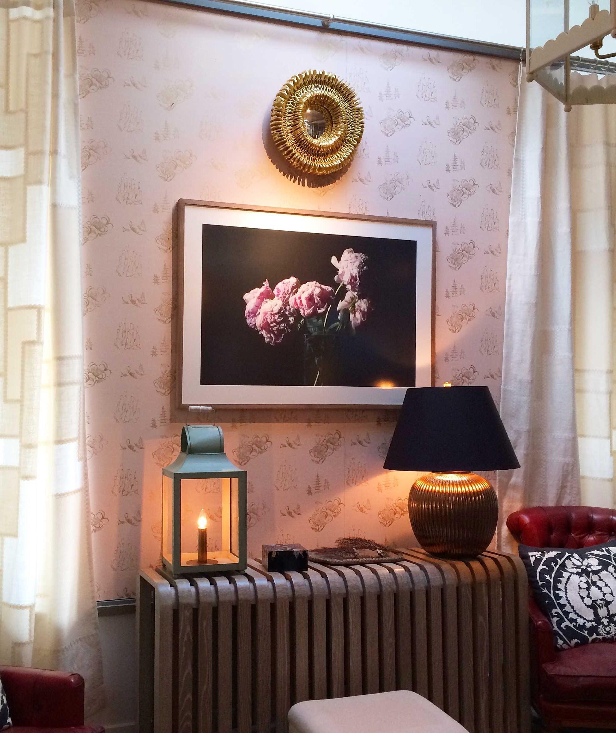 Toile Wallpaper in Blush, Harbinger Showroom