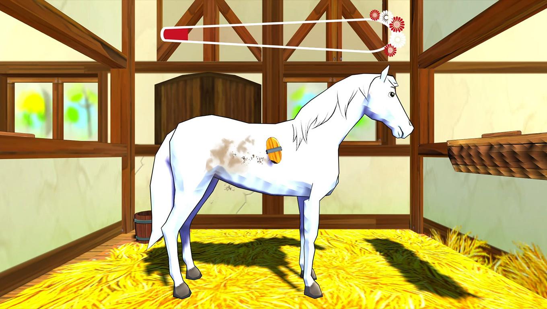 Horse grooming in Bibi & Tina