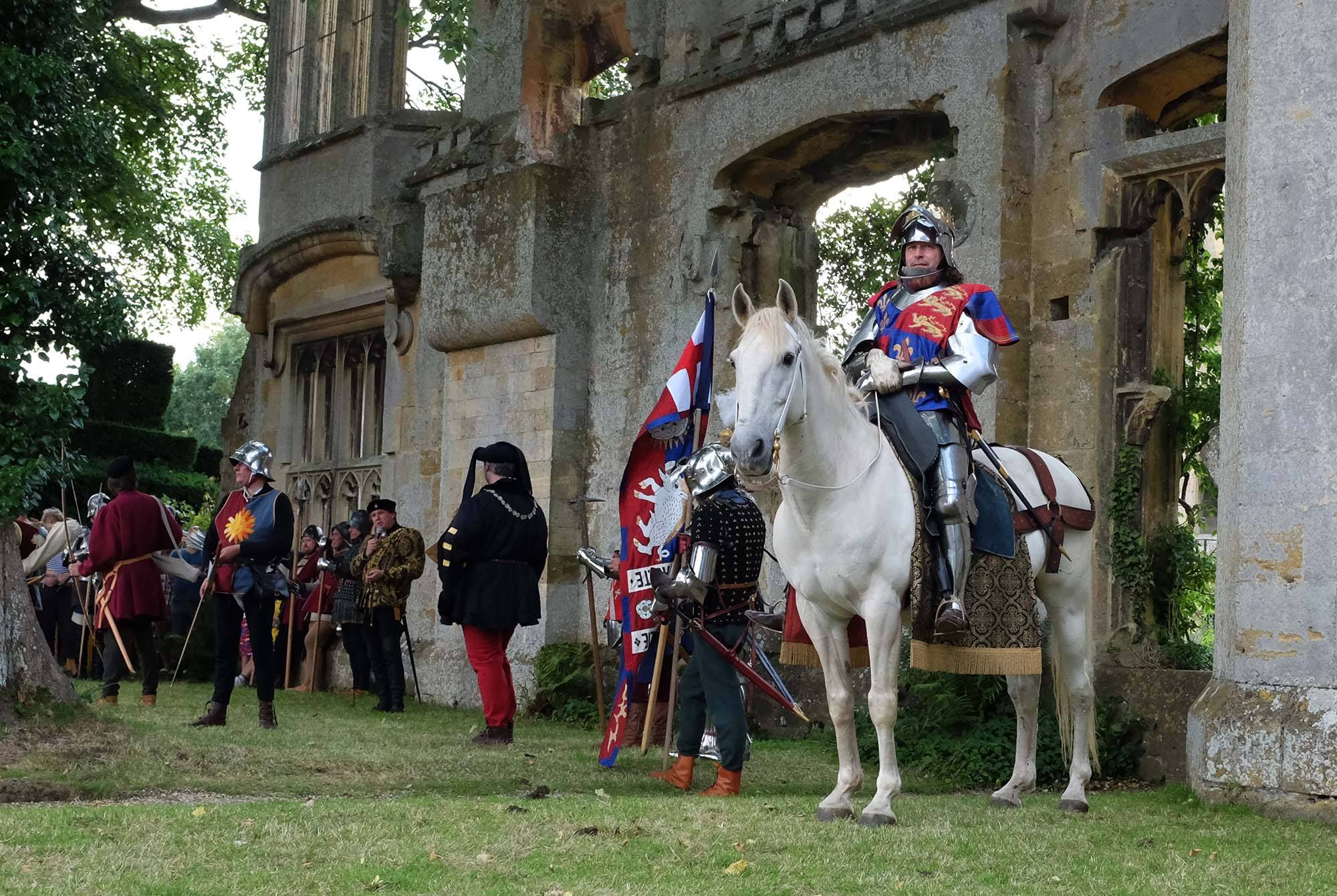 Kingsley and Warlord dressed up as Richard III and his horse White Surrey