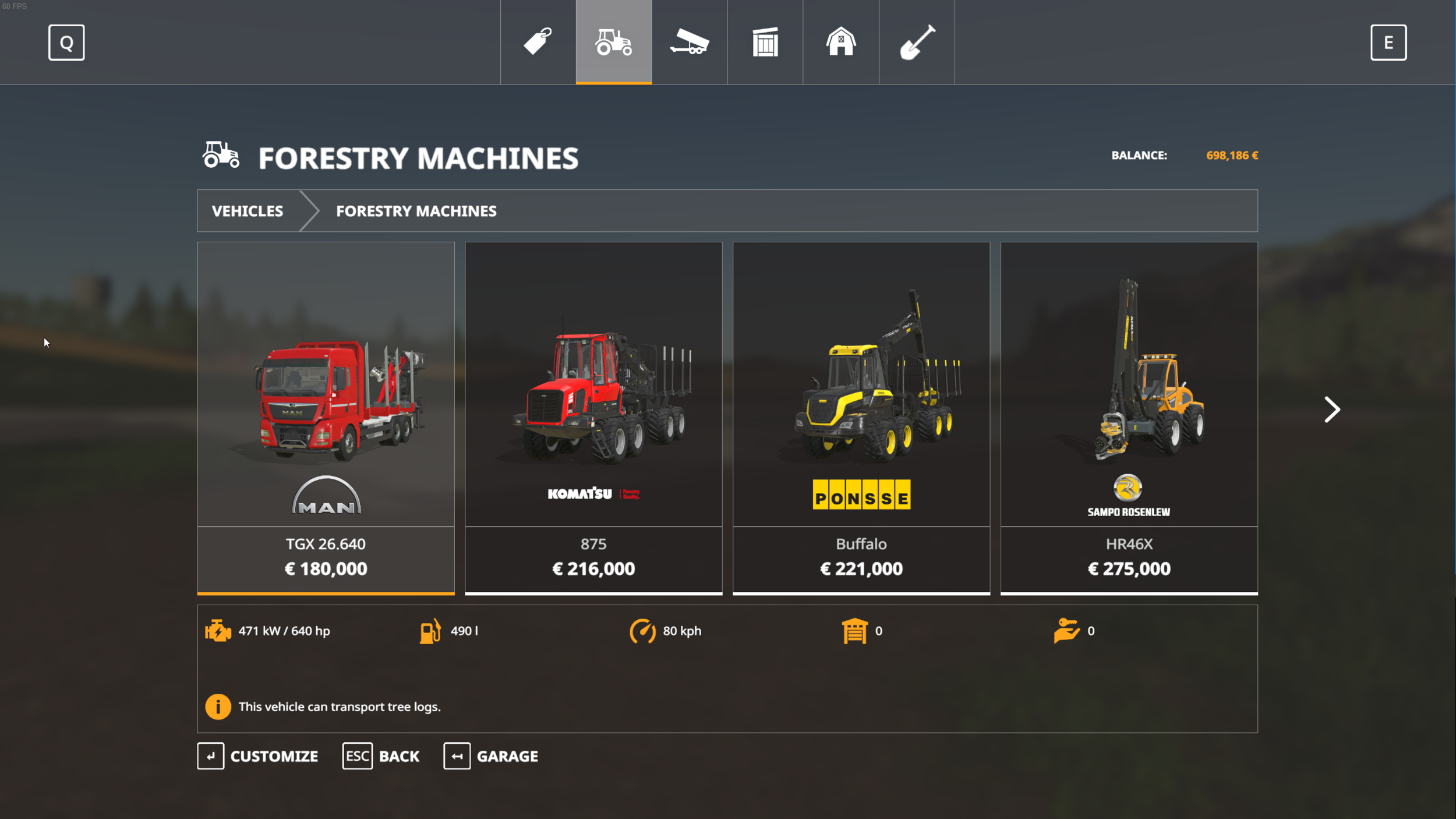 Almost everything that can be purchased in the game is a realistic reproduction of an existing tool or vehicle .