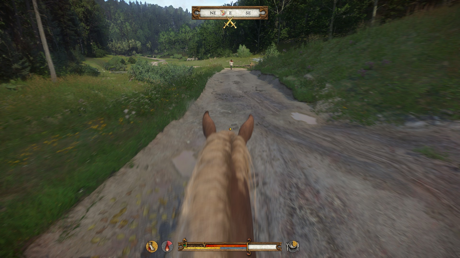Kingdom Come: Deliverance is one of many games to feature horse riding for transport, but without any attempt at realistic input.