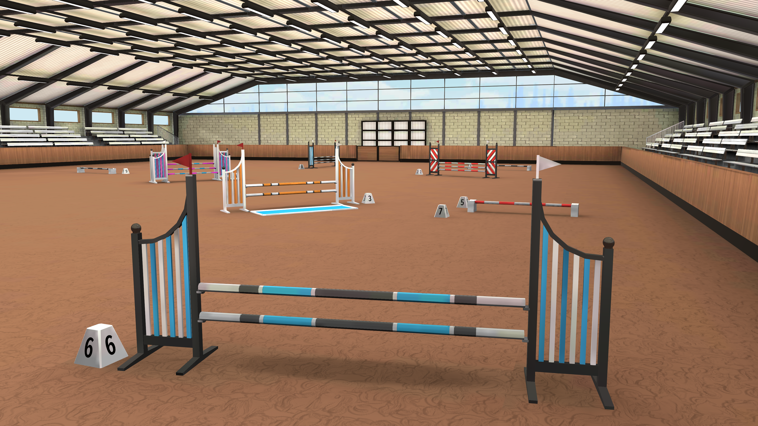 Show Jumping and Dressage are the core disciplines that  Equestrian  will focus on, but more may be added at some later point